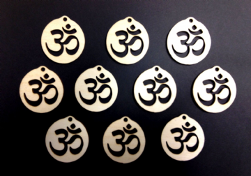 Wooden Om Decoration 55mm Pack of 10
